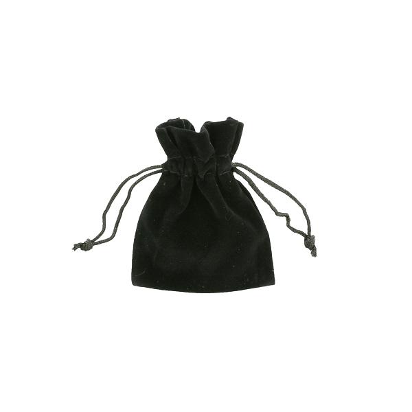 Bolsas de terciopelo negra 7,5x10cm