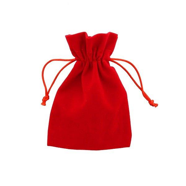 Bolsas de terciopelo roja 10x15cm
