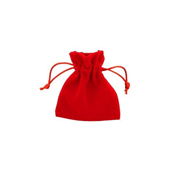 Bolsas de terciopelo roja 7,5x10
