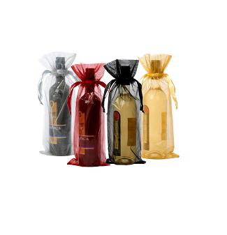 Bolsas organza para botellas de vino