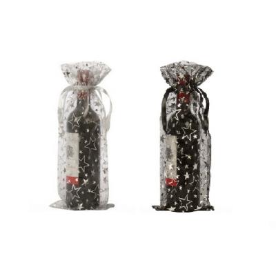 Estrellas del vino bolsas de botellas de organza