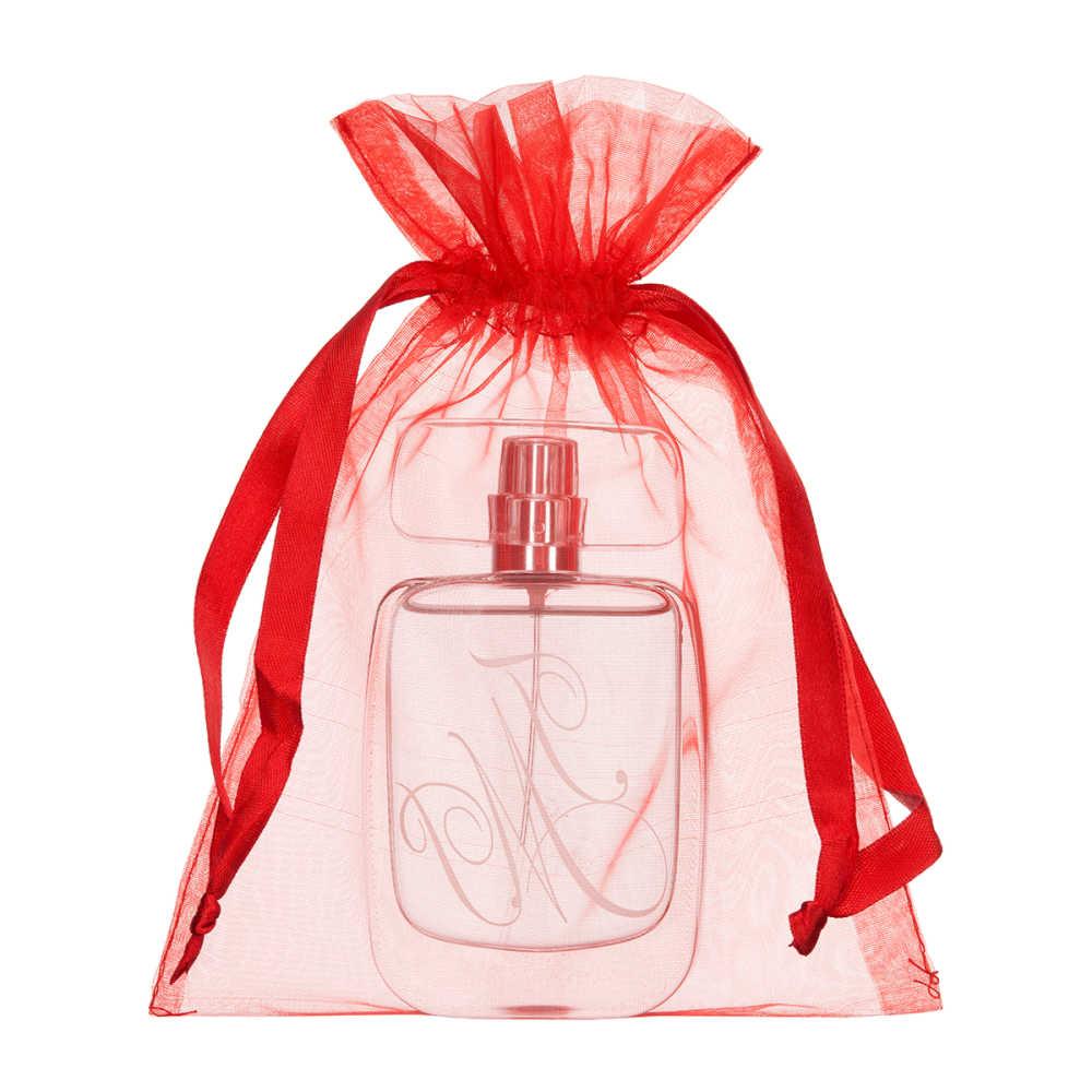 Bolsas de organza medianas - tamaño 15x20 cm roja 2.0