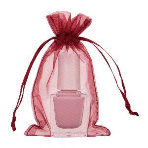 mini sac organza 7x12cm vin bordeaux rouge burg