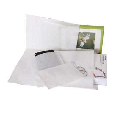 1000 piezas Bolsas de papel Blanco Opción de varios tamaños (3)