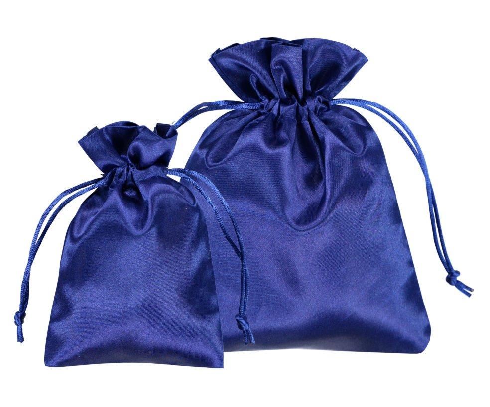 Bolsas de Satén azul