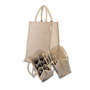 10 piezas Bolsa de yute para botellas Multifuncional 38x27.5x19.5cm