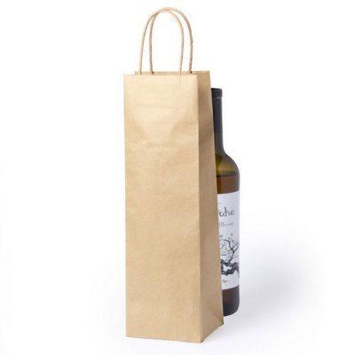 100 piezas Bolso de Botellas de Vino de Papel Manejar Cordón Retorcido
