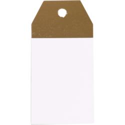 50 piezas Etiquetas Kraft Blanco-Oro 4,5x9cm