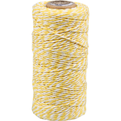 Cordón de Algodón Amarillo-bianco 1,5mm x 100mtr