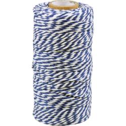 Cordón de Algodón Azul-blanco 1,5mm x 100mtr