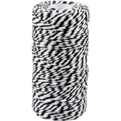 Cordón de Algodón Negro-blanco 1,5mm x 100mtr