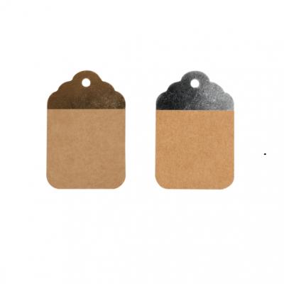 Etiquetas Kraft Marrón-Plata o Marrón-Oro 8.5x5.5cm (2)