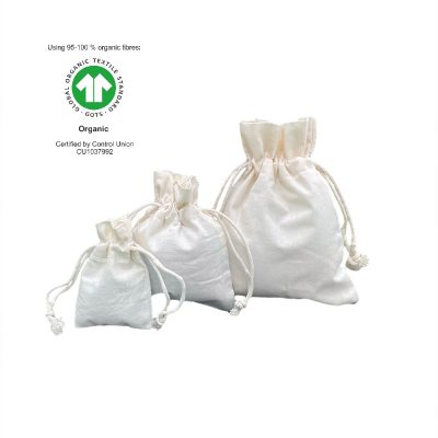 Ecological Cotton drawstring Bags 116 gr